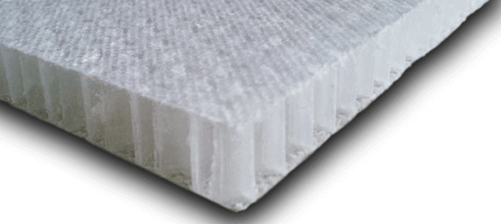 Plastic Honeycomb Core in rigid and scored sheets