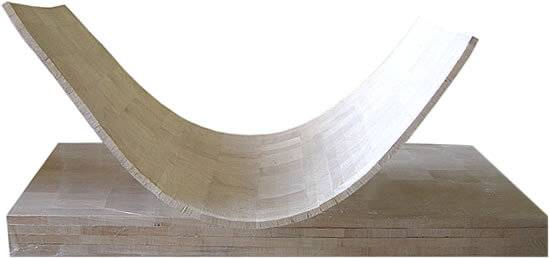 Flexible end grain balsa wood