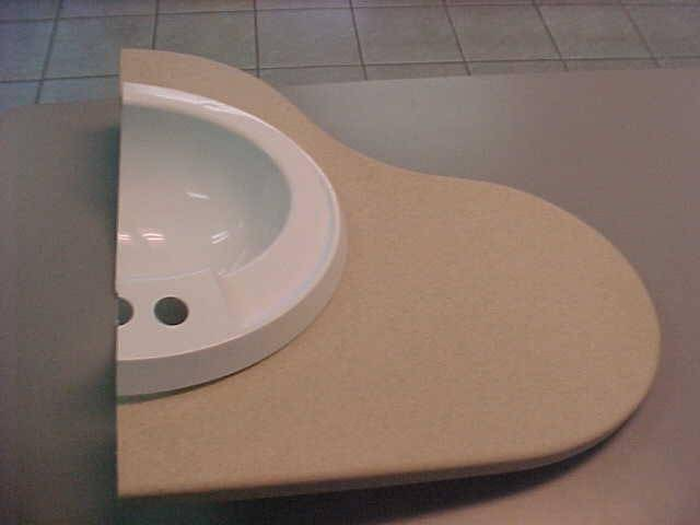 solid materials for sink and countertop use