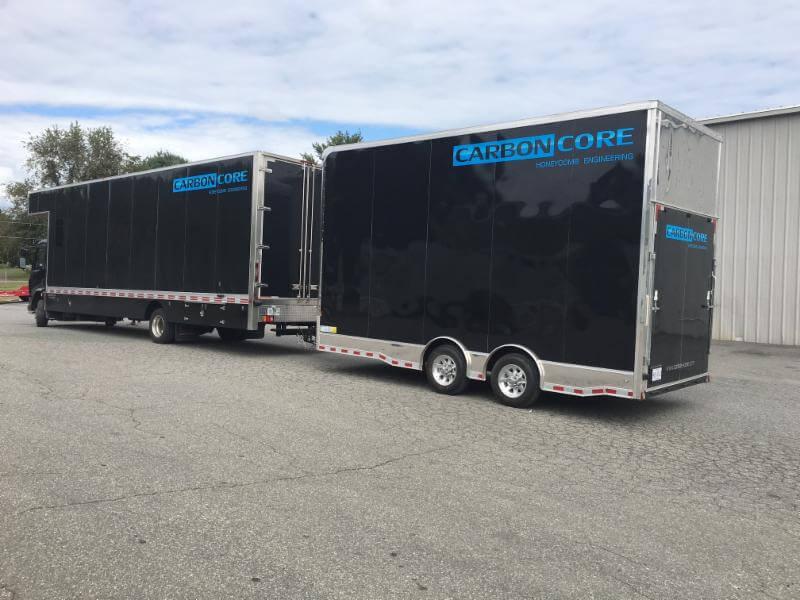 CarbonCore Fiberglass Material Delivery Truck